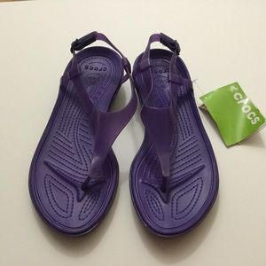 Crocs purple sandals size 11